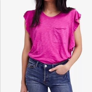 NWT FREE People flutter tee